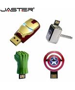 JASTER® Iron Man Captain American Hulk Hand USB Flash Drive Pen Drive Metal - $4.20