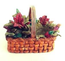 """Thomas Kinkade Autumn Leaves 3.5"""" Basket Tealight Votive Candle Holder V... - $14.45"""