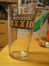Super Bowl XXXIII Jan.31,99 Miami Dolphins Miller Lite Time Bar Beer Pint Glass - $9.85