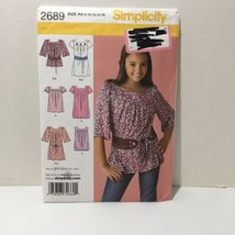Simplicity 2689 Size 8-16 Girls' Girls' Dress Tunic Belt - $11.64
