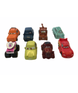 Disney Pixar Rubber Toy Cars Set of 7 Small Plastic Lightning McQueen Tow Mater - $9.99