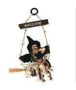Top Hat Witch Shape Hanging Halloween Decoration For Door Wall Horror De... - $16.99
