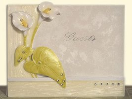 The Elegant Lily Collection Guest book. - $23.51