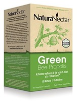 NaturaNectar Brazilian Green Bee Propolis, Vegetable Capsules, 60 Count - $56.16