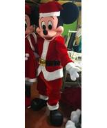 Christmas Mickey Mouse Mascot Costume Adult Christmas Character Costume ... - $325.00