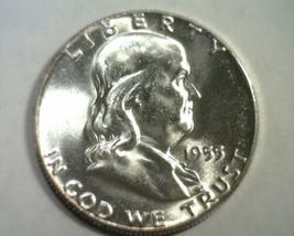 1955 FRANKLIN HALF DOLLAR CHOICE UNCIRCULATED+ CH. UNC+ NICE ORIGINAL COIN - $32.00