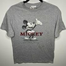 Walt Disney World T-Shirt Men's M Gray Mickey Mouse Vtg 90s - $14.26