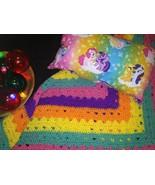 Handmade My Little Pony Decor Pillow And Afghan Set - $20.00