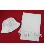 Unbranded White Adorable Toddler Girl Winter Hats and Scarf set Size: OS, - $6.70