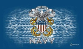 UNITED STATES NAVY 3 X 5  FLAG banner FL683 THE SEA IS OURS military ban... - $8.98