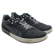 PUMA Lifestyle Mens Size 11.5 Dark Gray Low Top Nubuck Leather Sneakers - $34.64