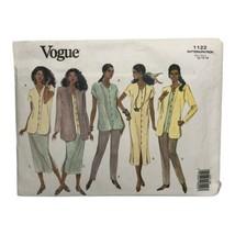 Vogue Sewing Pattern 1122 Size 12-14-16 Jacket Dress Top Skirt Pants Uncut - $12.99