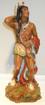 Vintage 1976 Universal Statuary Corp. #481 Resin Indian Brave Statue Scu... - $39.99