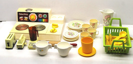 Vintage 1970s Toy Kitchen Play Set Fisher Price Stove+Aluminum Specialty... - $31.78