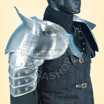MEDIEVAL GOTHIC FANTASY Shiny Metal Shoulder Guard WARRIOR PAULDRON ARMOUR - $200.00