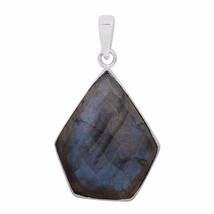 Free Shipping Blue Fire Labradorite 925 Sterling Silver Pendant Jewelry ... - $22.87