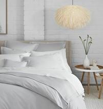 Sferra Light Grey Queen Sheet Set Solid 100% Cotton Sateen 300TC Matteo Italy - $335.00