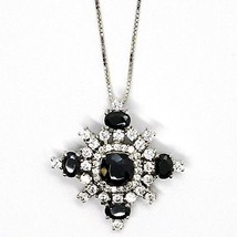 925 silver necklace, Venetian Chain, Pendant Necklace Snowflake, Zirconia image 2