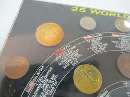 Vintage Sealed 25 World Coins Set Coin Album USA Nepal Sri Lanka Germany Bronze image 5