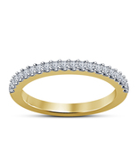 Women's Jewelry Collection Sterling Silver Yellow Gold Plated Engagement... - $48.99
