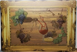"Set of 4 Kitchen Vinyl Foam Placemats (13""x19"") WINEYARD & POURING WINE,... - $21.77"