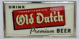 Vintage Old Dutch Beer Reverse On Glass Framed Sign Eagle Brewing 12x6 R... - $1,656.99