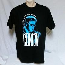 VTG President Bill Clinton T Shirt 90s Blues Tee Political USA War Comed... - $44.99
