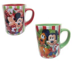 Disney Store Minnie Mickey Pluto Christmas Candy Striped Mug Share the M... - $59.95