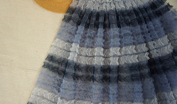 Grey multicolor tulle skirt 4