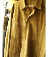 2 VNTG PERRY ELLIS SONOMA 2XL - 3XL leather shirt jacket beige WINTER HO... - $71.71