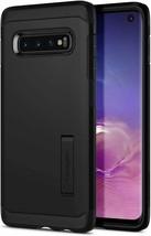 Smartphone Samsung Galaxy S10+ Case Spigen Tough Armor Black Cover - $18.23