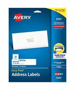"""Avery Address Labels with Sure Feed for Inkjet Printers, 1"""" x 4"""", 500 La... - $10.43"""