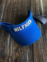 TOMMY HILFIGER ROYAL BLUE Sun VISOR HAT OSFA Strapback Brand New With Tags! - $25.74