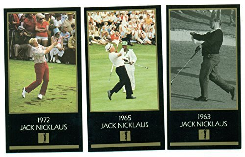 Jack Nicklaus Lot of 3 Grand Slam Ventures GSV Master Collection Cards (1963, 19