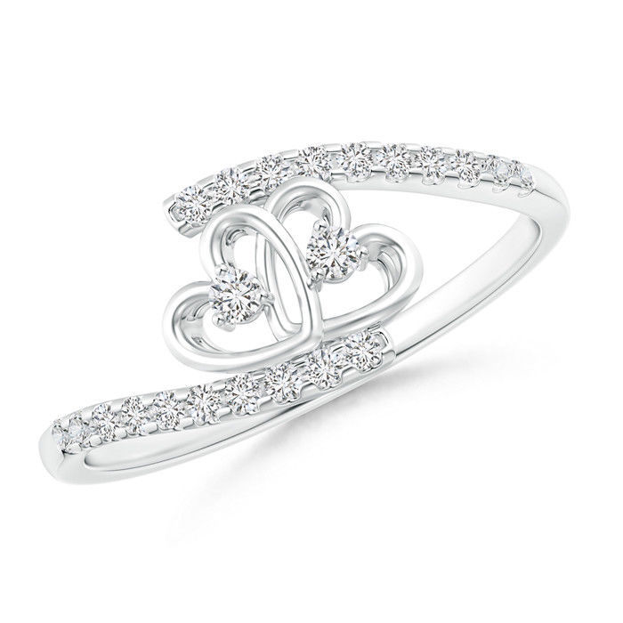 Angara Entwined Infinity Diamond Halo Promise Ring Lvc7S