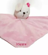Carters Security Blanket Lovey Plush Bunny Rabbit Mommy Loves Me Pink 14... - $21.77
