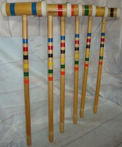 Framco Croquet Mallet Lawn Yard Play Game REPLACEMENT 6 Mallets - $59.39