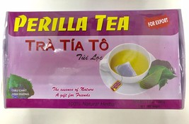 Vietnamese Perilla Tea Bag Tra Tia To 100% Natural Herbal- 2gx100Bag (No Paypal) - $23.99