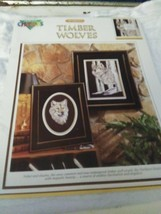 Color Charts Cross Stitch  Al Agnews Timber wolves booklet - $3.68