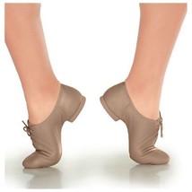 So Danca JZ10 Tan Adult 12.5M (Fit 12) Jodi Leather Lace Up Split Sole J... - $14.84