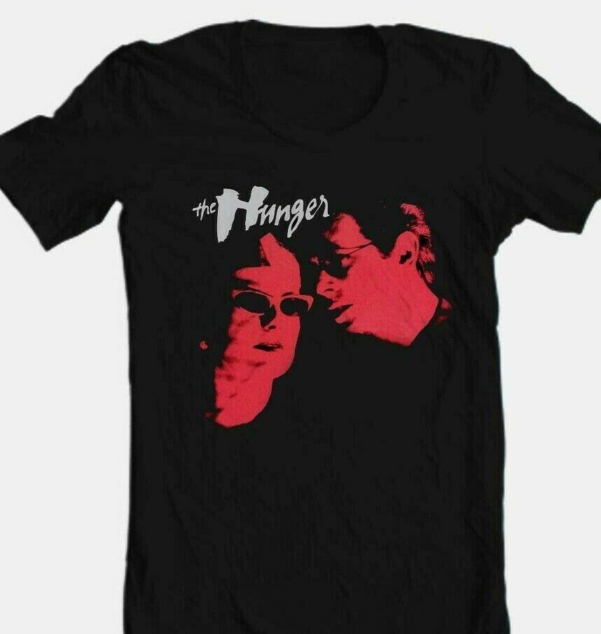 The hunger movie t shirt gothic black cotton graphic tee vampire retro 1980 tee