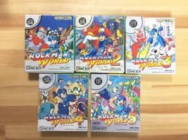Capcom Mega Man World 1-5 (Rockman) Video Games For Nintendo Game Boy E12 - $539.99