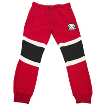 NWT ECKO UNLTD. AUTHENTIC MEN'S RED COLORBLOCK FLEECE JOGGER PANTS - $29.99