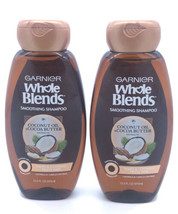 NEW Lot of 2 ~ Garnier Whole Blends Coconut Oil/Cocoa Butter Shampoo Frizzy Hair - $11.68
