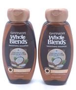 NEW Lot of 2 ~ Garnier Whole Blends Coconut Oil/Cocoa Butter Shampoo Fri... - $11.68