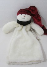 Woof & Poof Snowman Christmas plush wine bottle cover w/ tag Made in USA - $250,09 MXN
