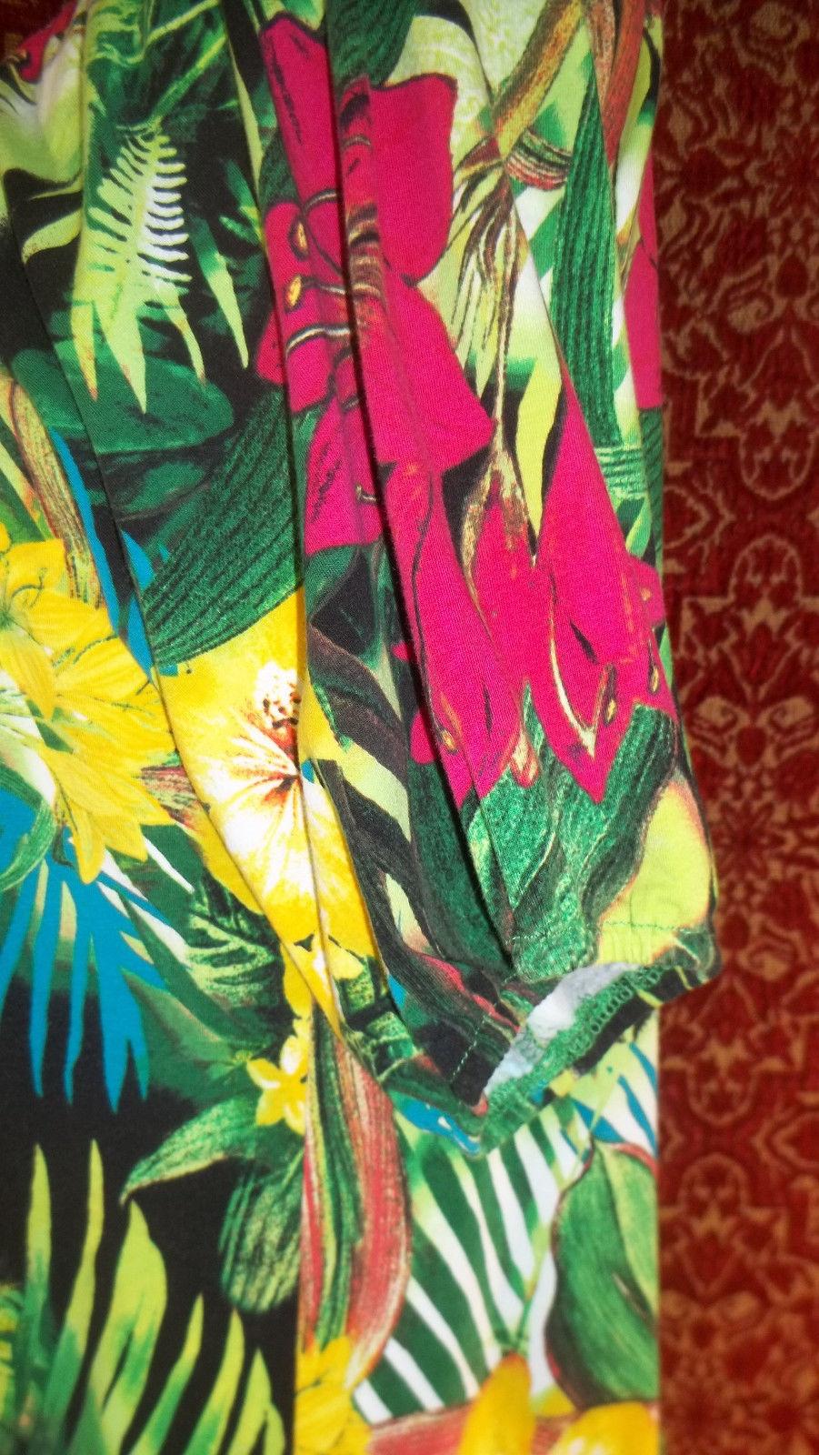 THOMAS & OLIVIA stretch cotton floral short sleeve tunic blouse PL (T2503C8G) image 7