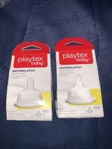 (2) 2-Packs Playtex NaturaLatch Nipples Slow Flow BPA Free 0-3 Months Slow NEW - $26.73