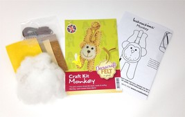 Create Your Own Felt Character Craft Kit Monkey - $8.81