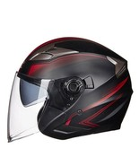 Helmets Double Lens Motorcycle Half Faces Abs Motorbike Electric Safety ... - $83.47